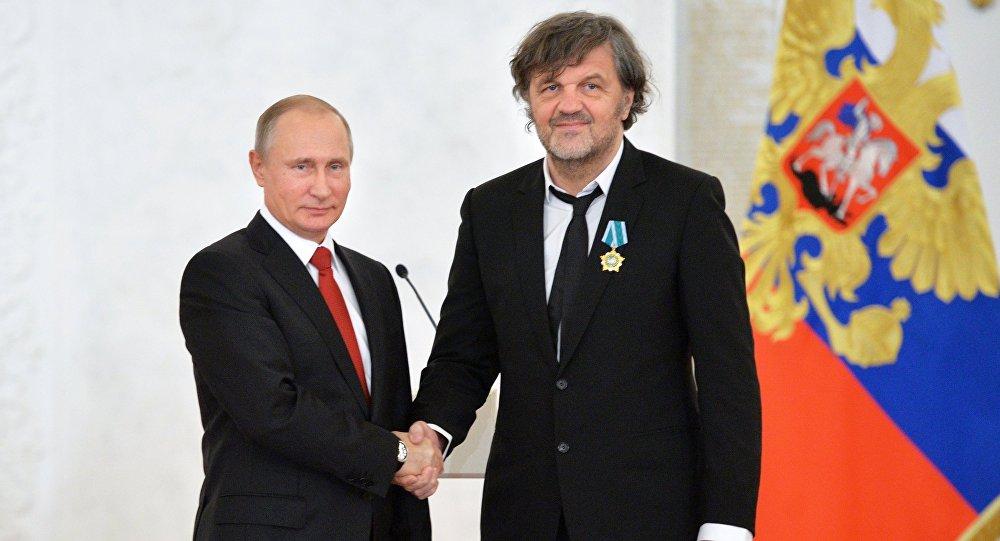 Президент РФ Владимир Путин и кинорежиссер Эмир Кустурица