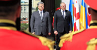 Президент Украины Петр Порошенко и президент Грузии Георгий Маргвелашвили
