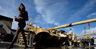 Танк Т-90МС на стенде Научно-производственной корпорации Уралвагонзавод
