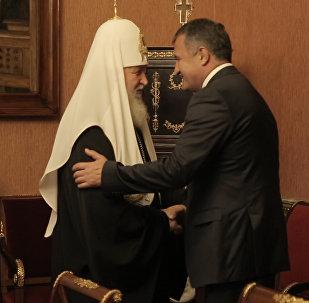 Встреча патриарха Кирилла с Бибиловым: кадры из Патриаршей резиденции