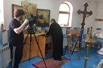 Съемки в Южной Осетии видеоматериалов о контактах алан и армян в эпоху раннего христианства