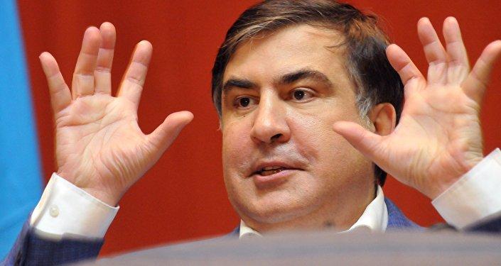 Бывший глава Одесской области Украины Михаил Саакашвили