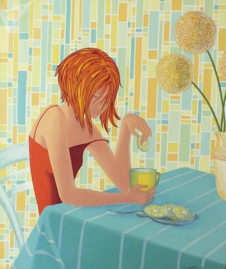 Работа Дзерассы Гаглоевой Девушка с лимоном. 2012 год