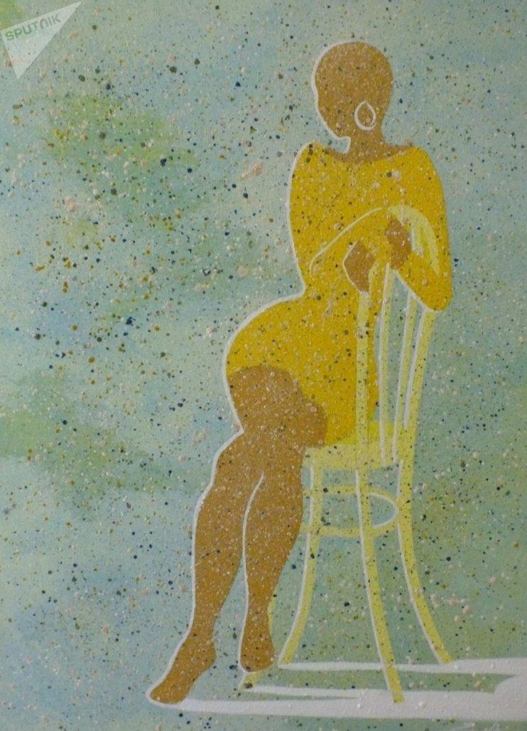 Работа Дзерассы Гаглоевой Желтое платье. 2014 год