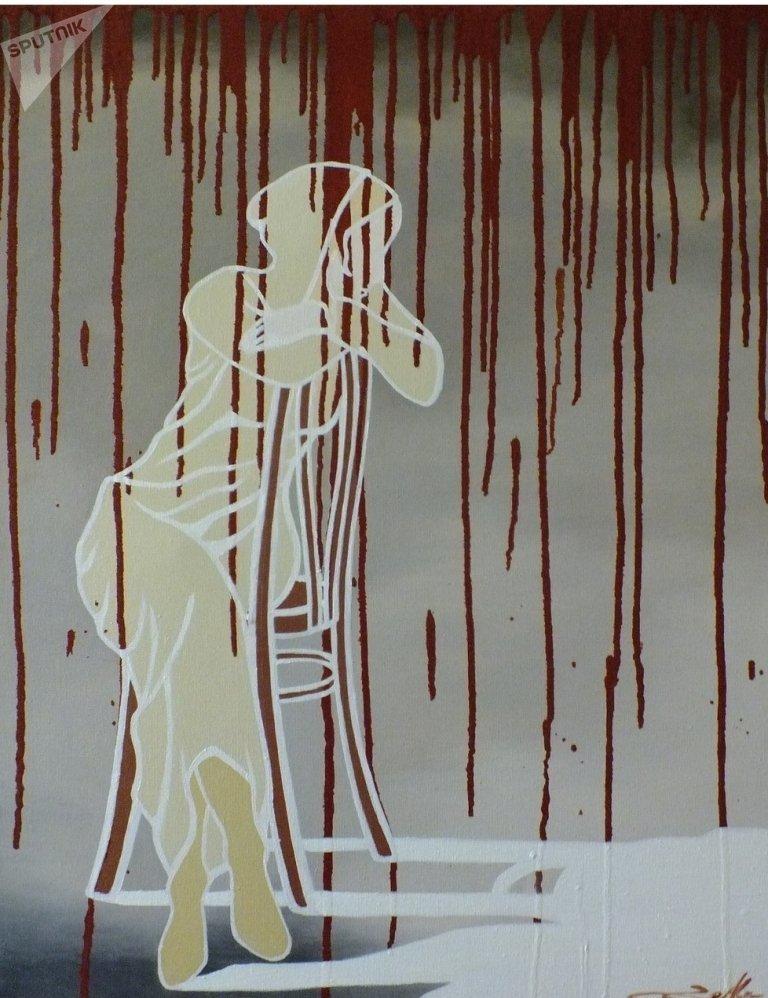 Работа Дзерассы Гаглоевой Белая тень. 2015 год