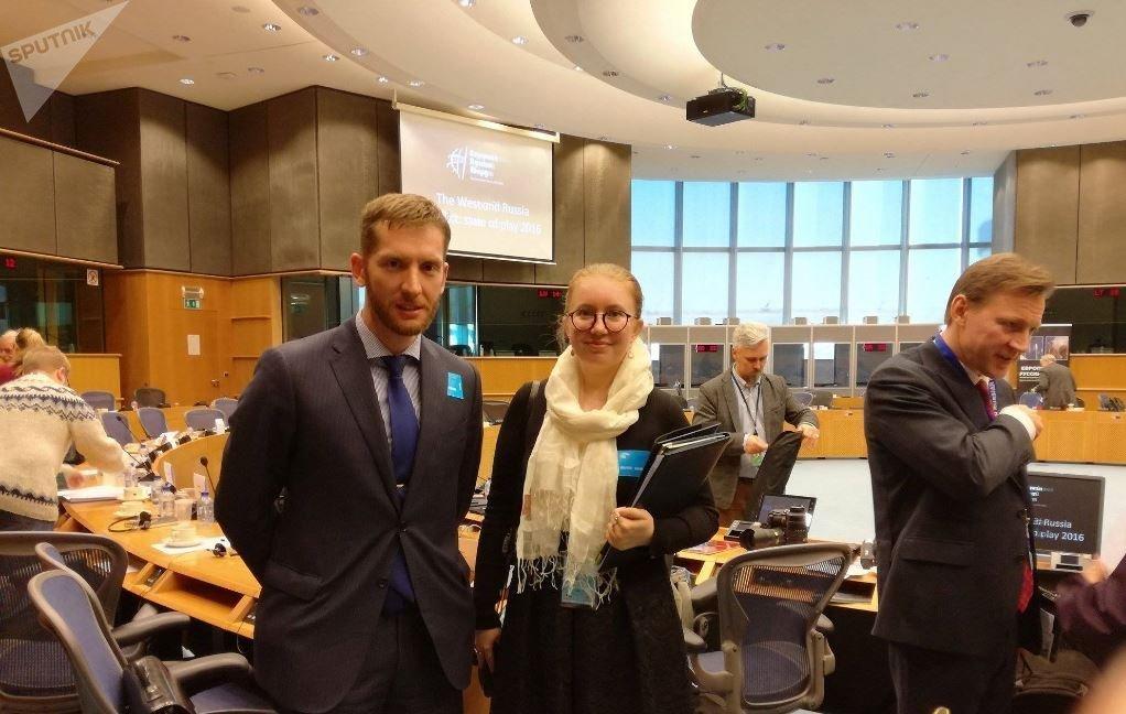 Выступление на пленарной сессии Европарламента в качестве российского делегата от Испании