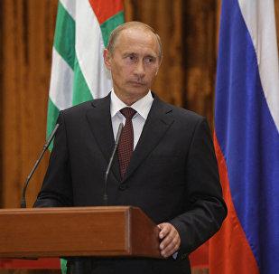 Владимир Путин во время визита в Абхазию. Архивное фото