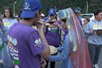 В Южной Осетии встречали волонтеров ;Башен Кавказа