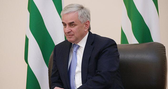 Президент Республики Абхазия Рауль Хаджимба