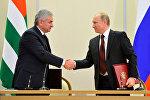 Встреча Хаджимба и Путина началась в Пицунде