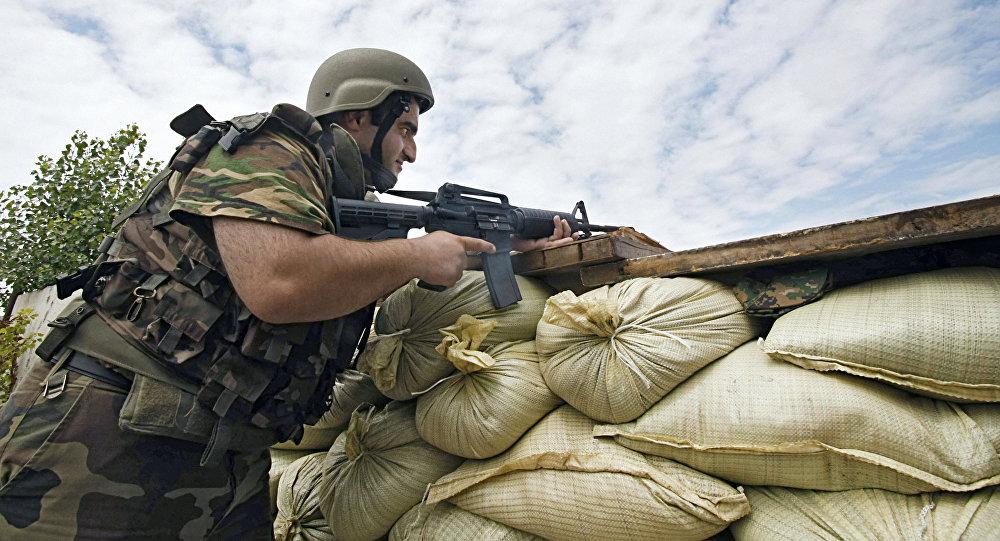 Грузинские военнослужащие во время войны в Южной Осетии
