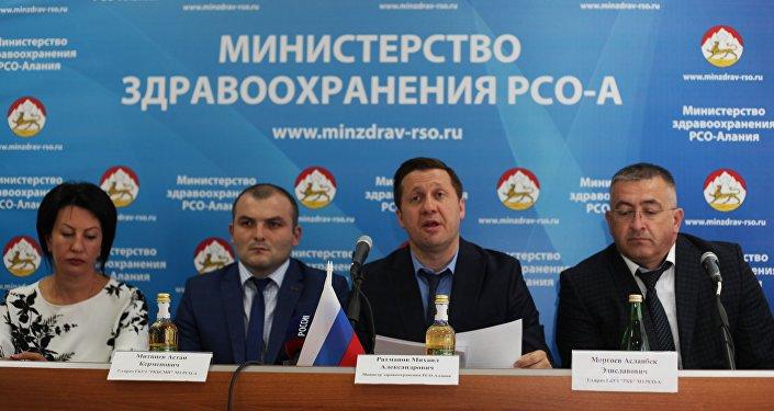 Глава Минздрава Северной Осетии Михаил Ратманов на пресс-конференции