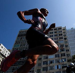 Забег триатлониста