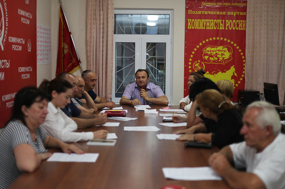 ВСаратове «Коммунисты России» провели митинги вподдержку осетинских однопартийцев