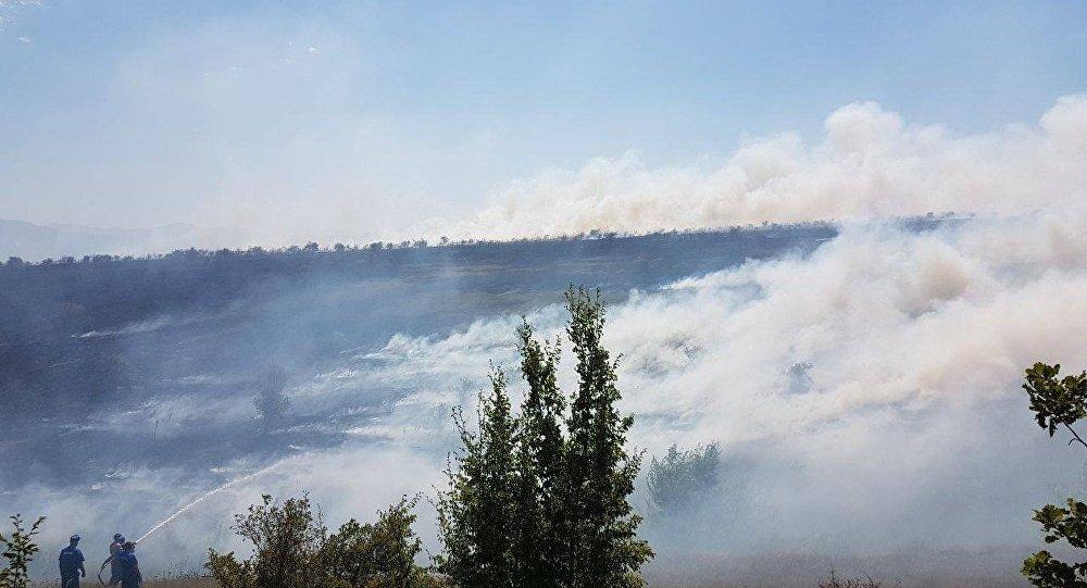 Пожар в Знаурском районе РЮО