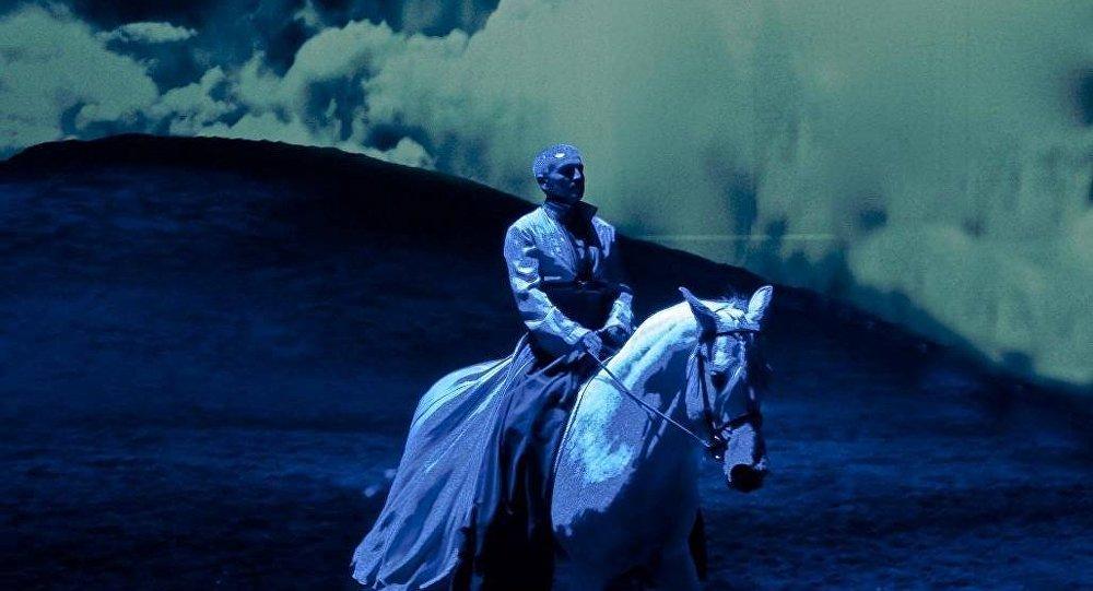 Выступление конного театра Odysseo by Cavalia