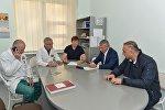 Глава Северной Осетии проведал детей, пострадавших в результате несчастного случая в с. Тарское