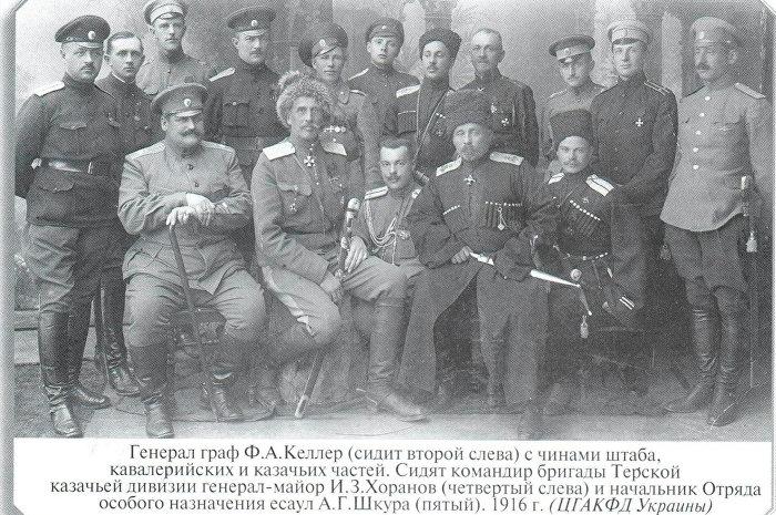 Офицеры Терской казачьей дивизии