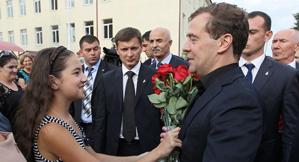 Рабочий визит Дмитрия Медведева в Южную Осетию
