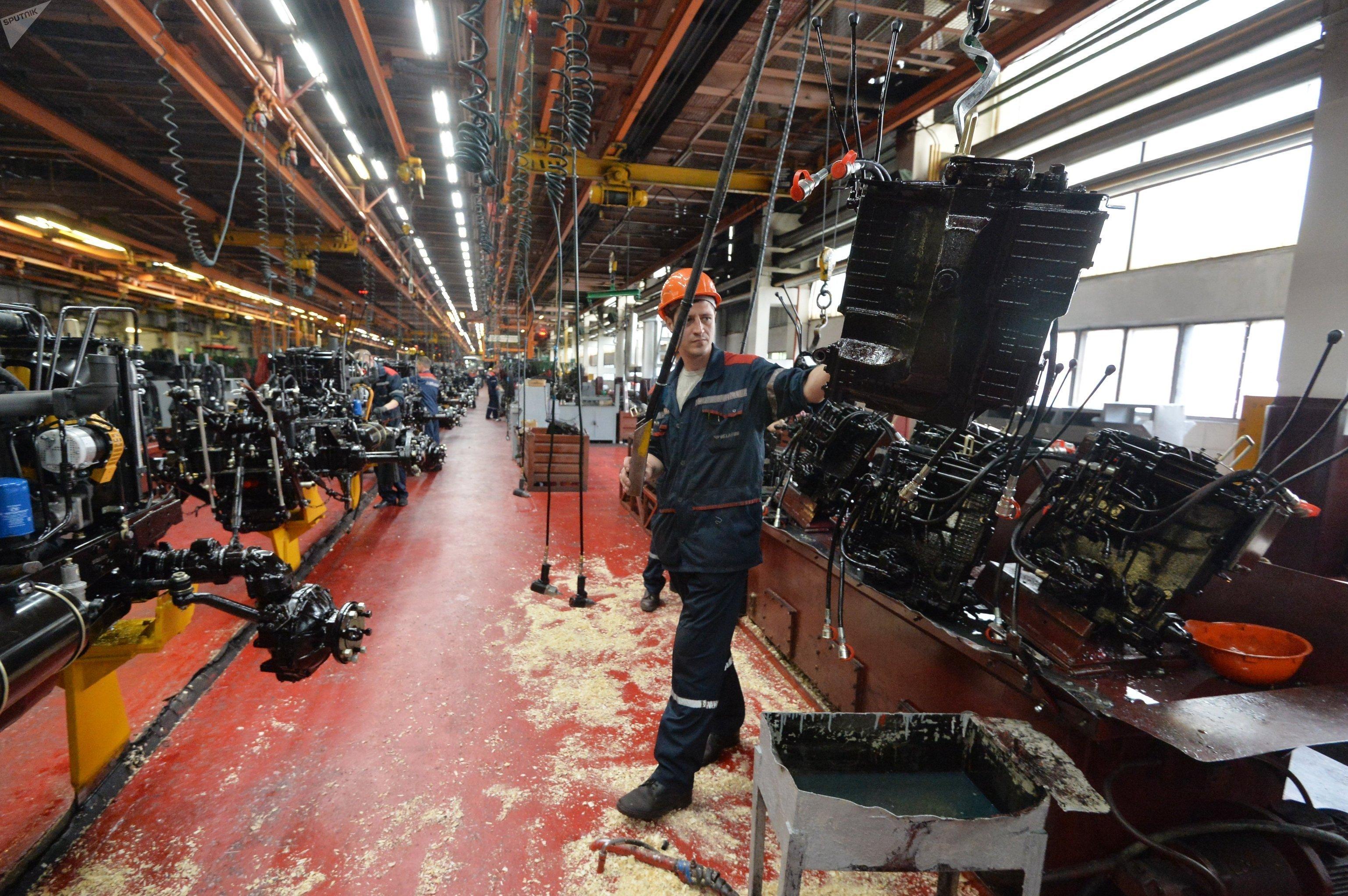 Работа Минского тракторного завода