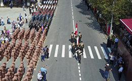 Военный парад в Цхинвале: кадры торжественного марша