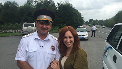 Ведущая телеканала НТВ Ирина Шихман в Осетии