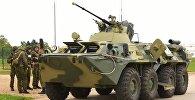 Военнослужащие российской военной базы в Абхазии