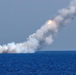 Запуск ракет Калибр по целям террористов в Сирии