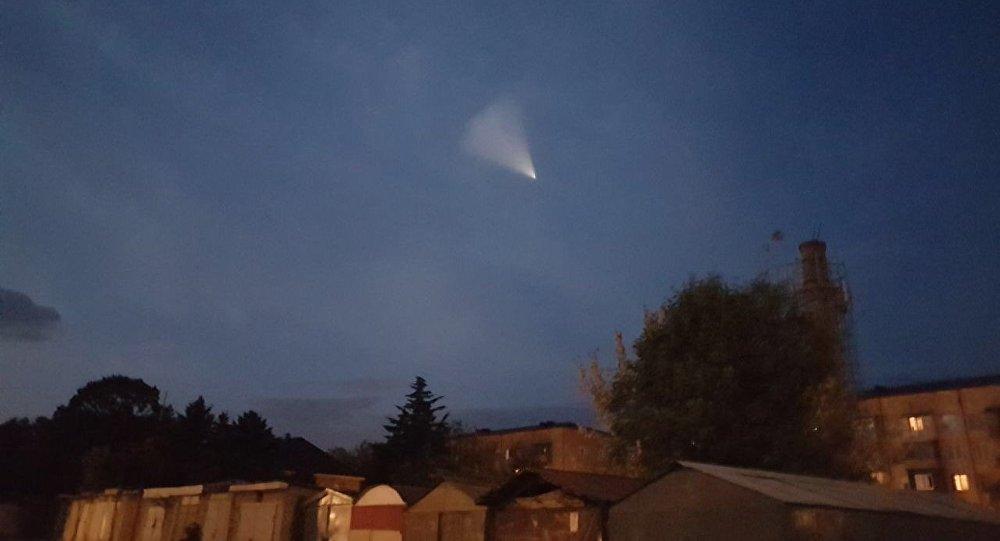 НЛО в небе  над Цхинвалом: кадры очевидцев