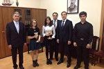 Встреча Игоря Бибилова с руководством и студентами училища имени Римского-Корсакова