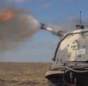 На полигоне Прудбой с артиллерийскими подразделениями мотострелкового соединения ЮВО прошло тактическое учение с боевой стрельбой