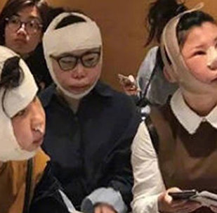 Южнокорейские иммиграционные службы задержали трех гражданок КНР с сильно опухшими лицами