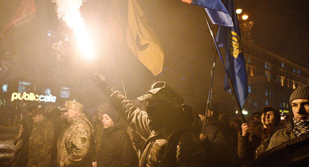 Акция по случаю третьей годовщины событий на киевском Майдане