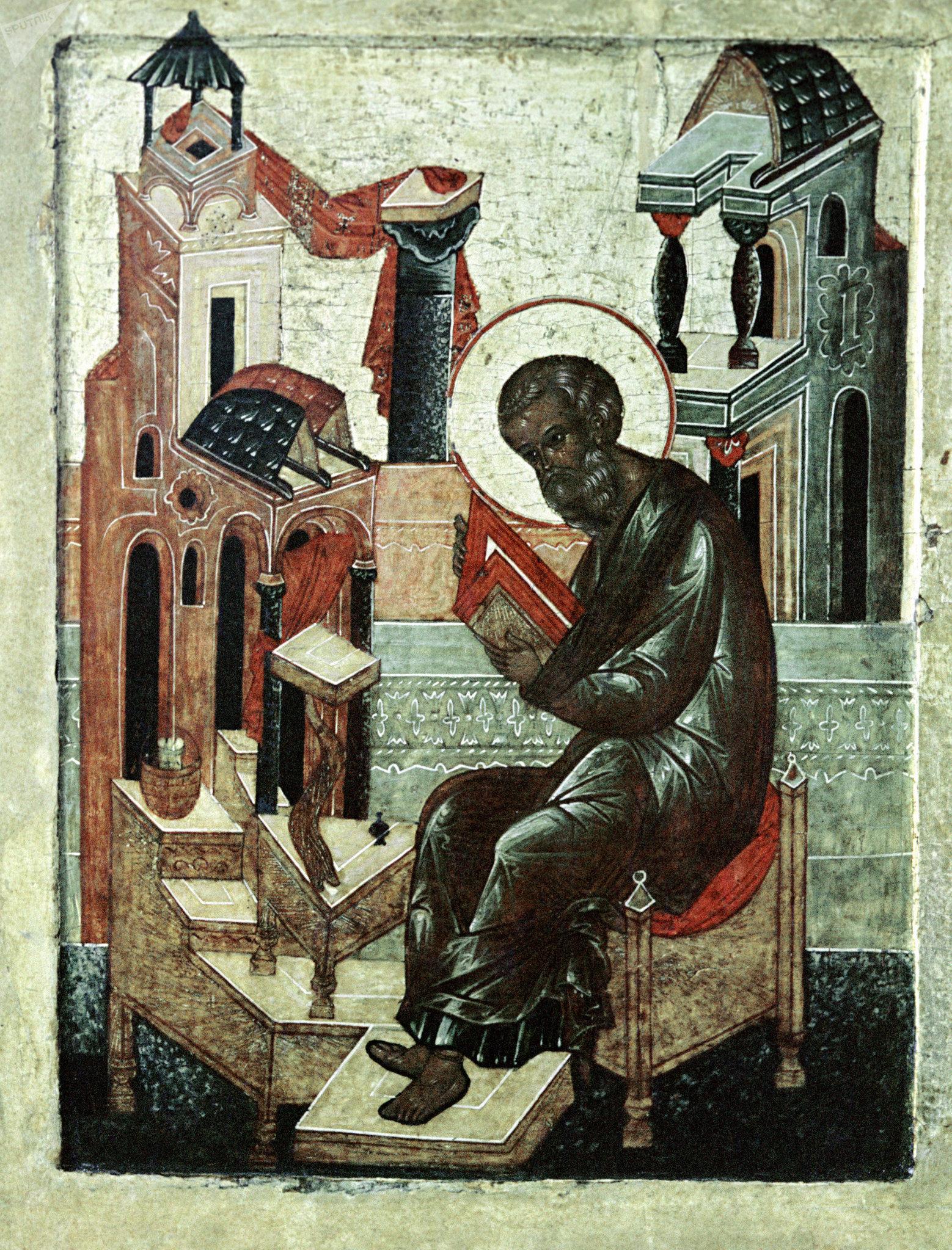 Репродукция иконы Покров Богоматери XVII века из собрания музея Новодевичьего монастыря