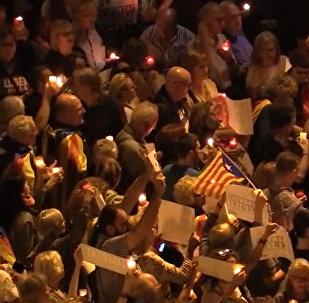 Сотни тысяч свечей на улицах Барселоны