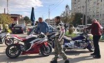 В Цхинвале прошел мотопробег в честь победы Гассиева
