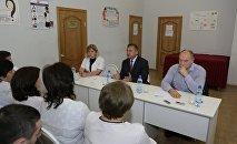 Встреча президента Анатолия Бибилова с коллективом цхинвальской городской поликлиники