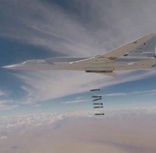 Минобороны опубликовало видео удара Ту-22М3 по террористам в Сирии