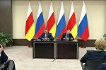 Путин и Бибилов рассказали, о чем договорились на встрече в Москве