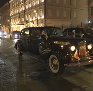 Бибилов катался по Москве в сталинском Паккарде с осетинским триколором