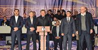 Президент Южной Осетии Анатолий Бибилов выступил с речью на Международном турнире по вольной борьбе Аланы