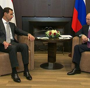 Президент Сирии Башар Асад поблагодарил Владимиа Путина за помощь