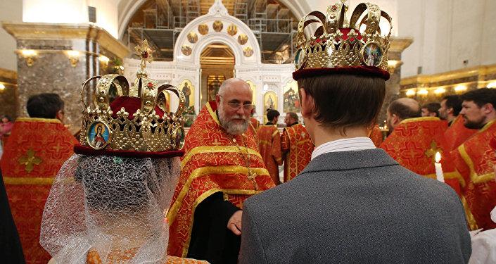 Венчание в кафедральном соборе Калининграда
