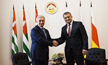 Приезд Рауля Хаджимба в Южную Осетию