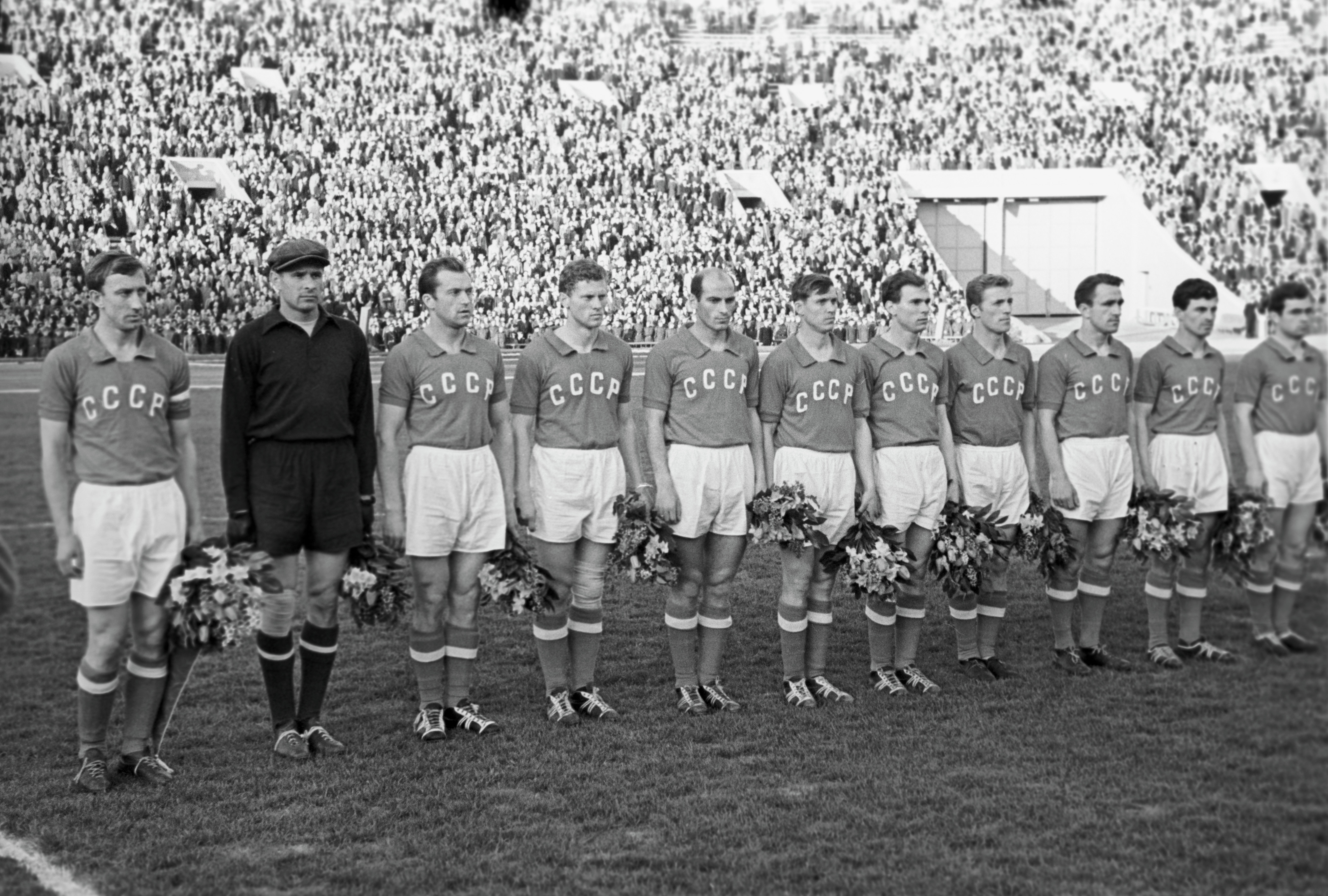 Сборная СССР - триумфаторы Чемпионата Европы 1960 года