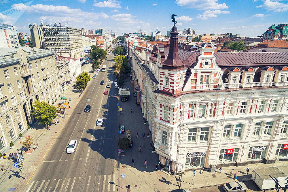 Вид на центральную улицу Ростова-на-Дону