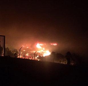 Штаты в огне: мощные природные пожары бушуют в Калифорнии (США)