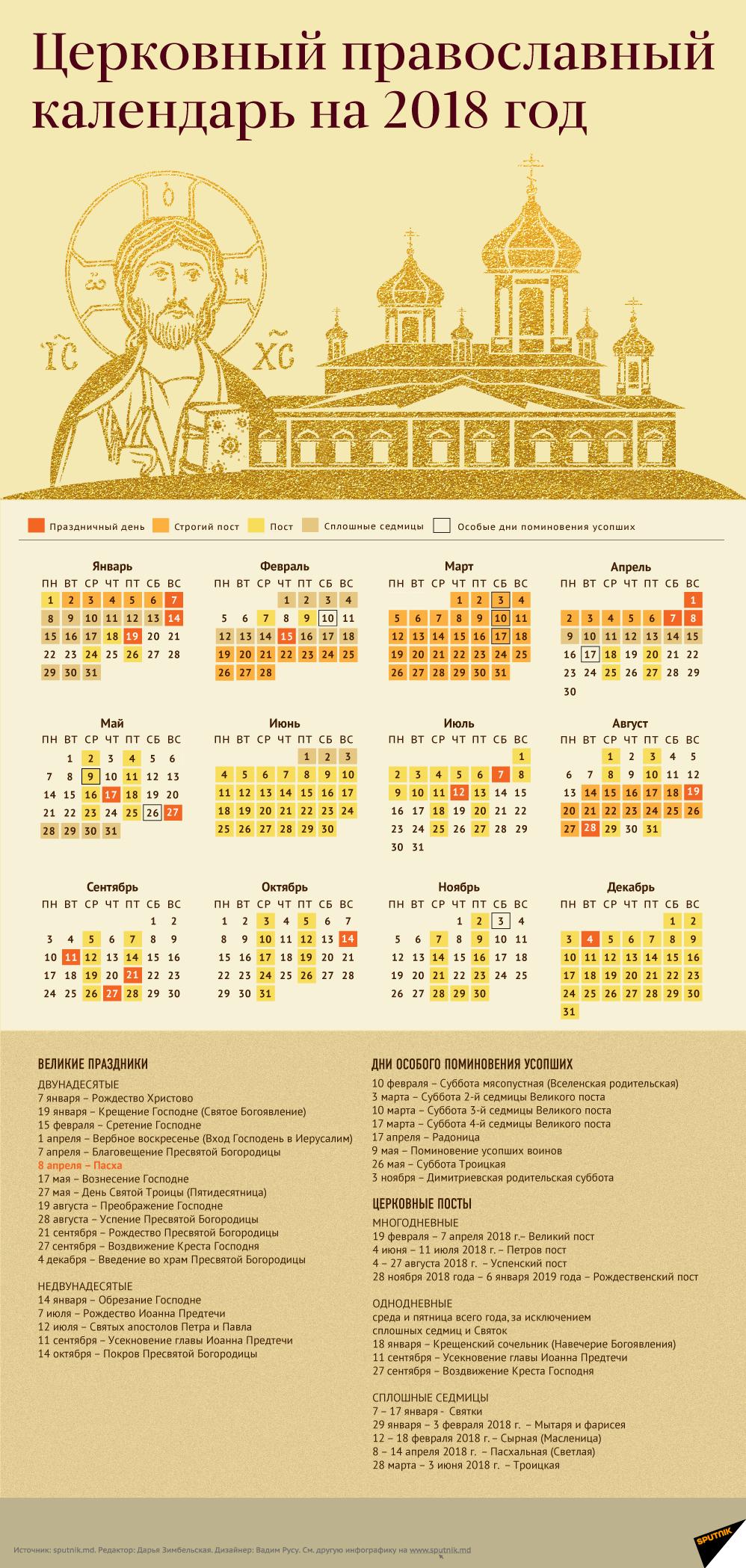 Праздники в октябре 2018 года: церковный православный календарь праздничных дней