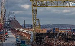 Таманскую часть моста в Крым соединили с фарватерной аркой