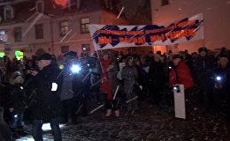 Руки прочь от русских школ: митинг за сохранение русских школ в Латвии